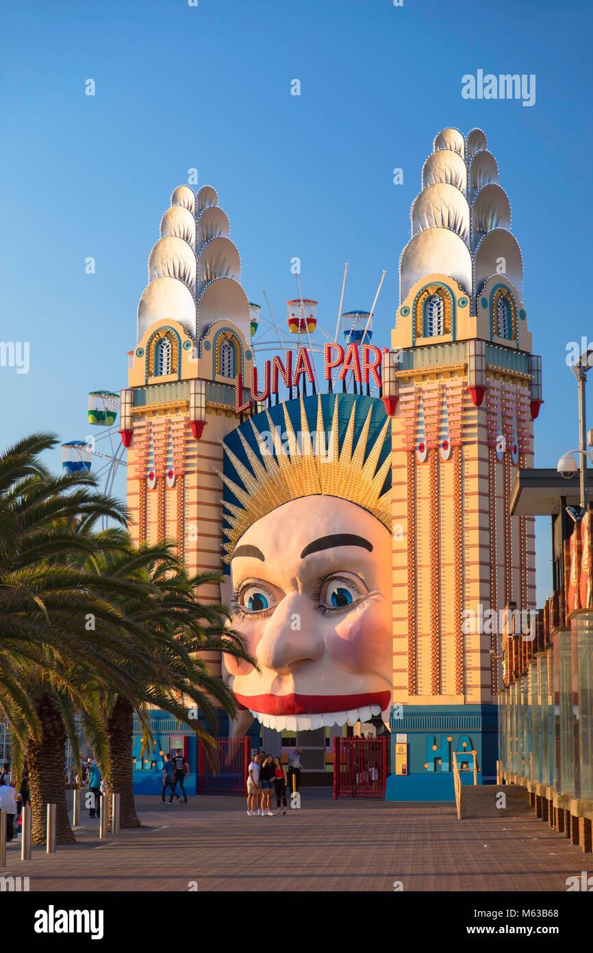 Luna Park, Sydney, New South Wales, Australia - Stock Image