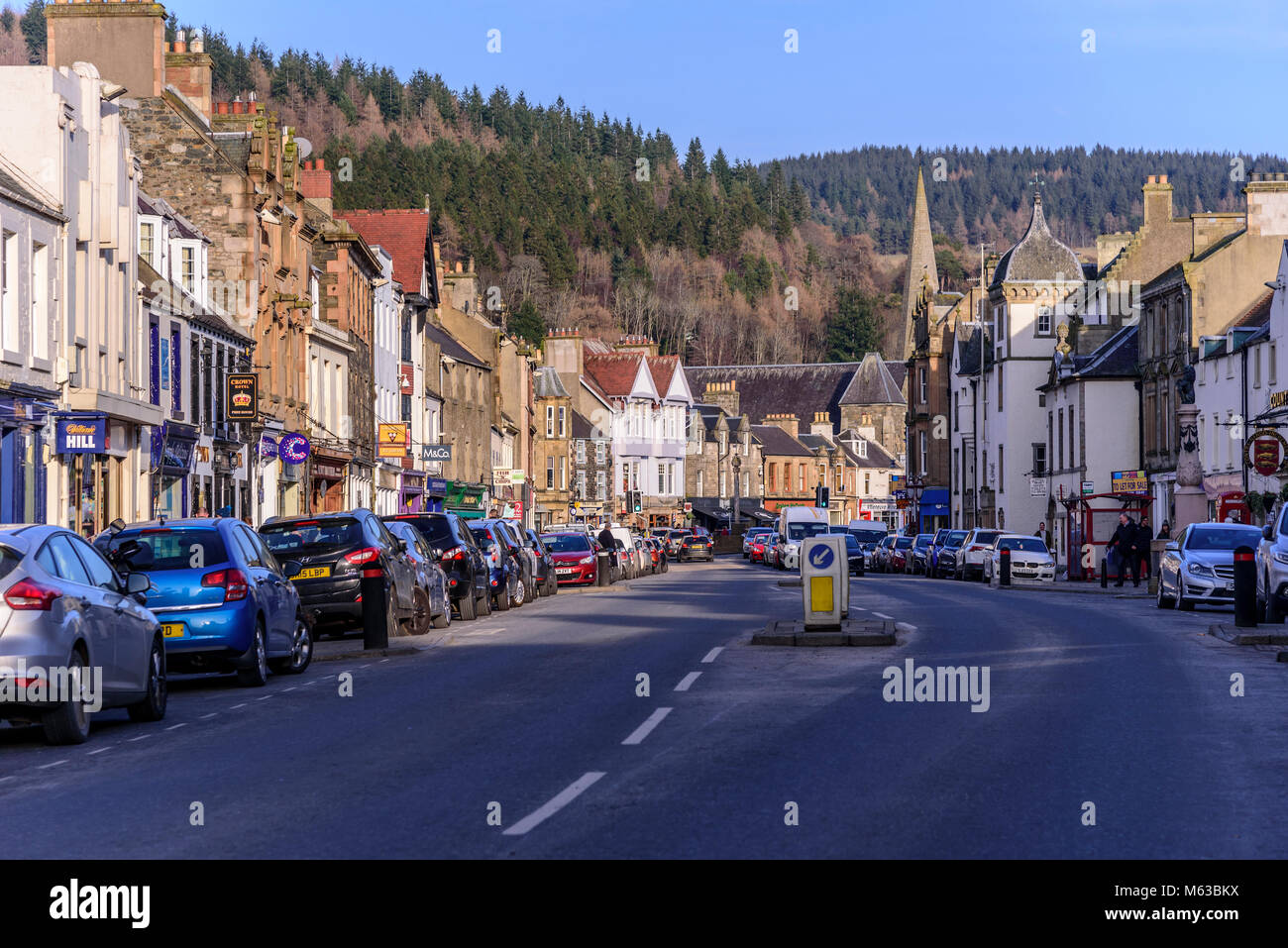Peebles. Scottish borders. - Stock Image
