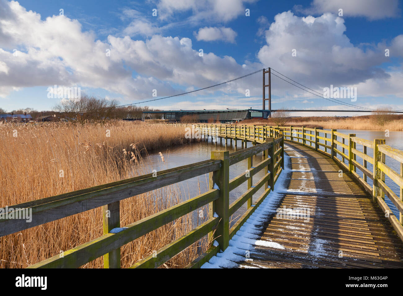 Humber, North Lincolnshire. 27th Feb, 2018. UK Weather: Winter at the Water's Edge Country Park in Barton-upon - Stock Image