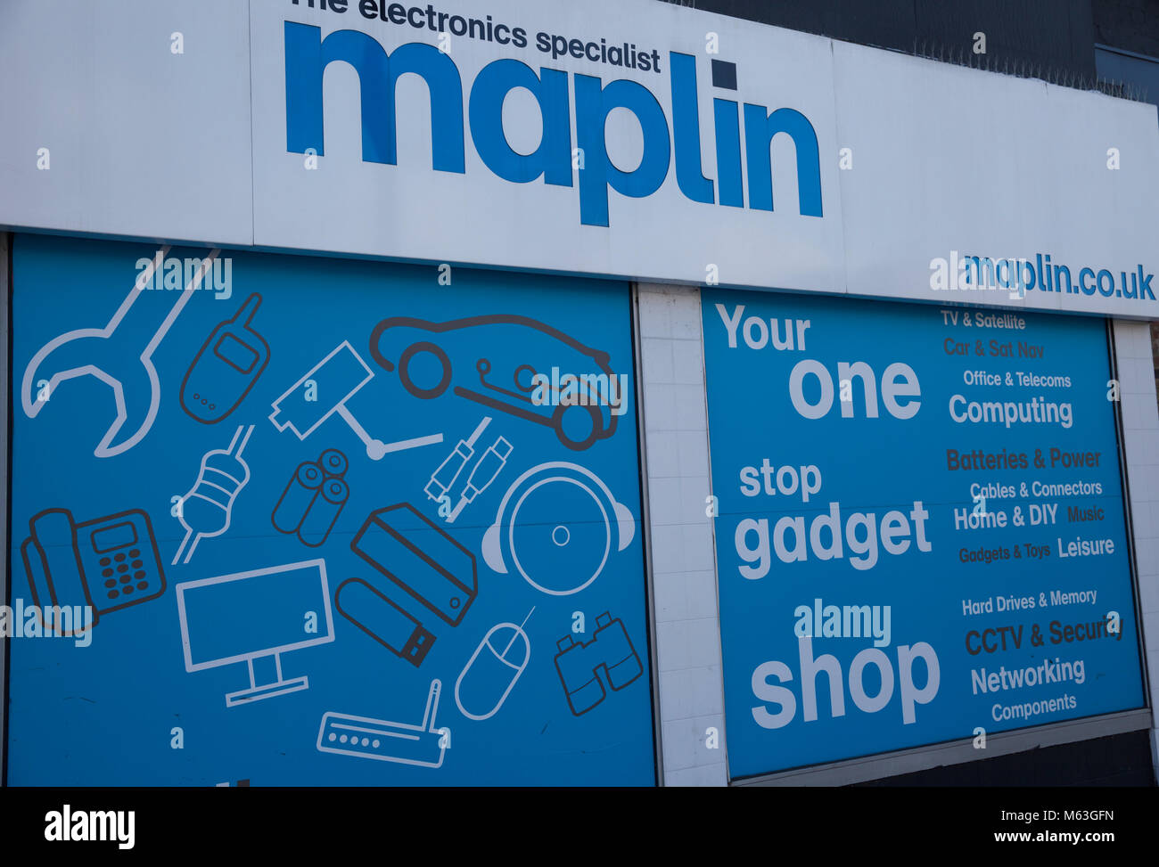 Bromley, UK, Maplin store in Bromley faces an uncertain future as Maplin has collapsed into administration putting - Stock Image