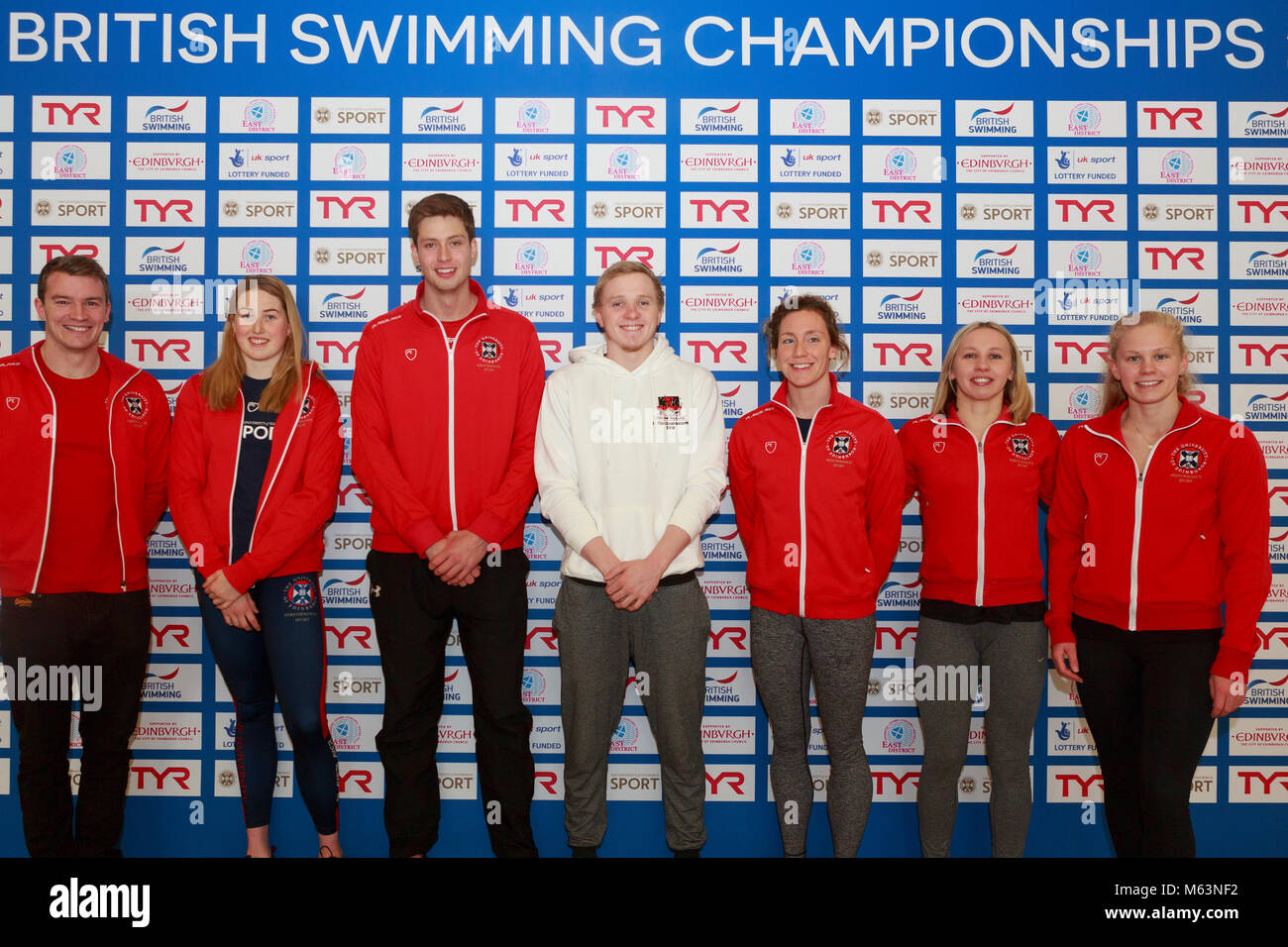 Edinburgh, Scotland 28th February 2018. Elite swimmers from the University of Edinburgh will be among those competing - Stock Image