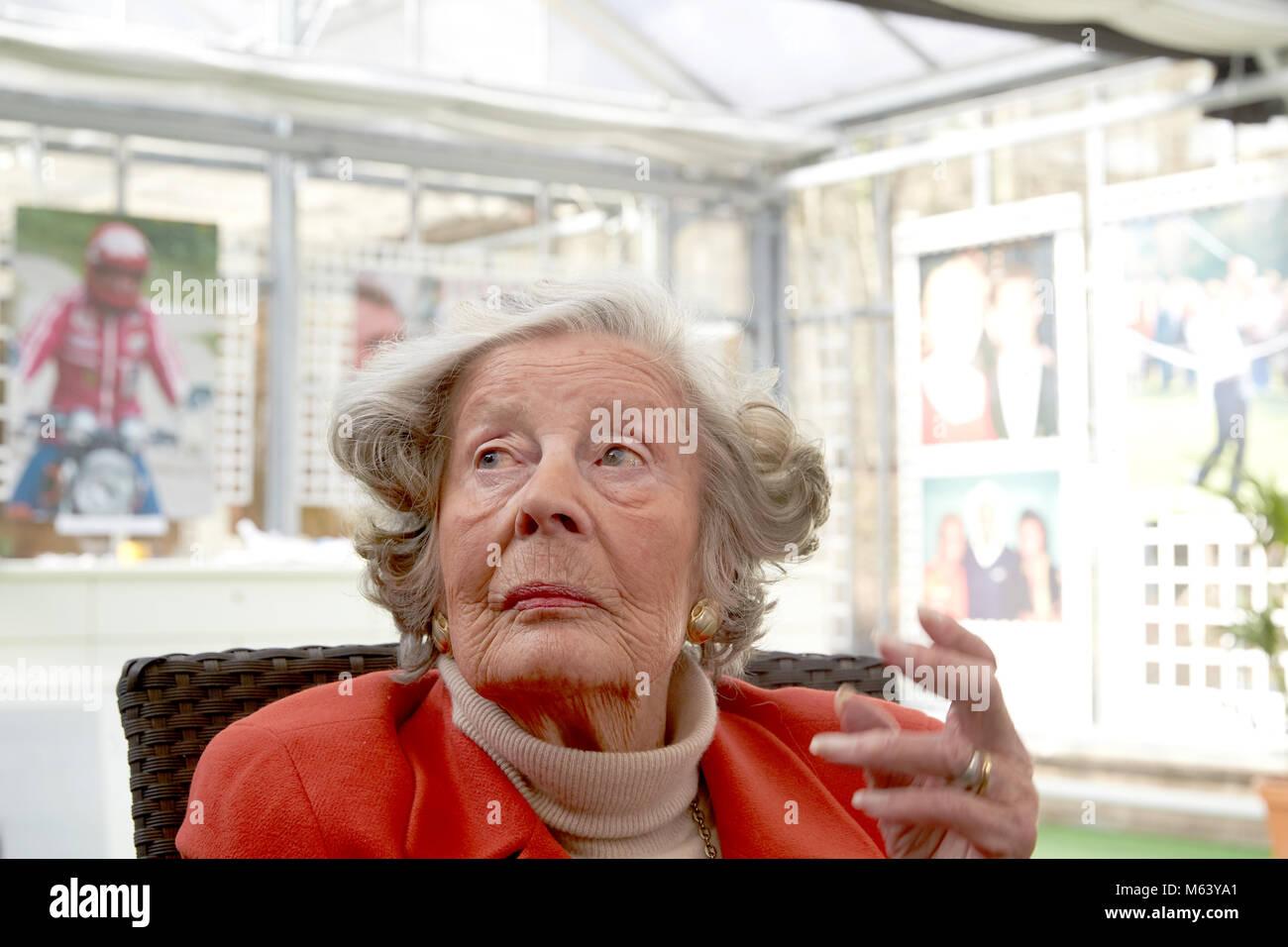 27 Febuary 2018, Germany, Bendoirf-Sayn: Marianne, Dowager Princess zu Sayn-Wittgenstein-Sayn, also known as 'Mamarazza' - Stock Image