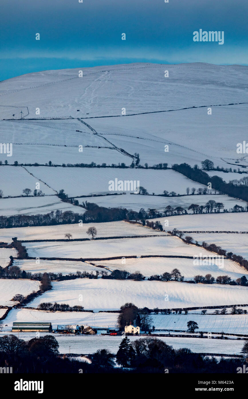 Flintshire, Wales, UK , UK Weather:  The Beast form the East continues to wreak havoc in many areas in the UK with Stock Photo