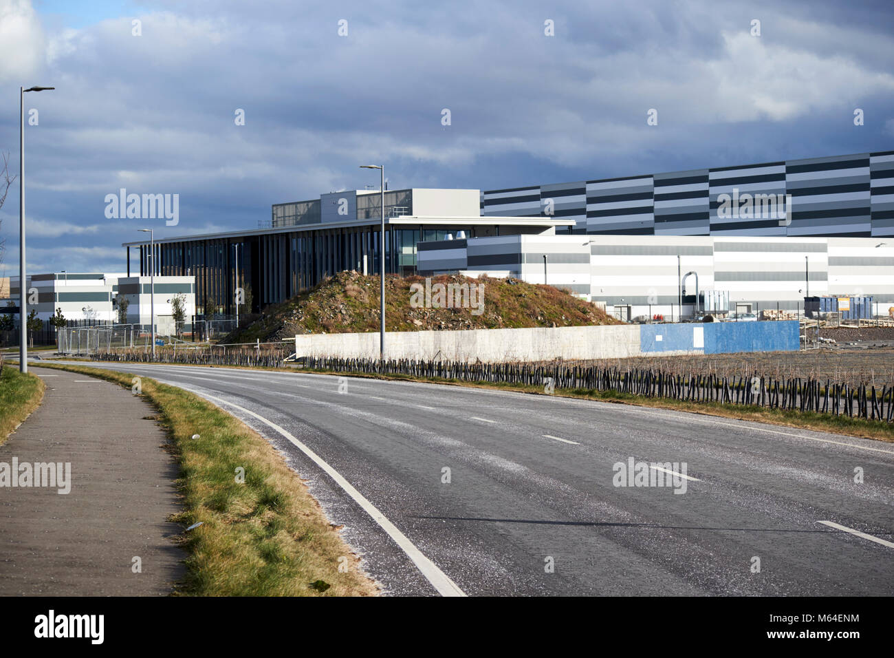 belfast harbour studios film and television studio giants park site on former landfill on reclaimed land north foreshore - Stock Image
