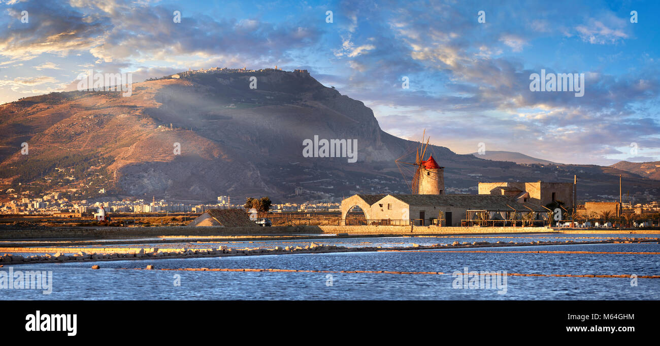Pictures & images of the salt pans of the Nubia Salt works Museum and Nubia wind mill,  World Wildlife reserve - Stock Image