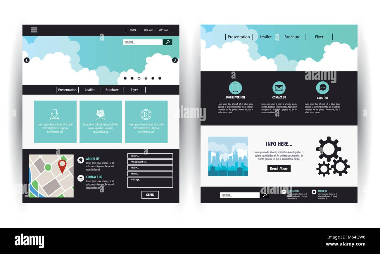 Business website template - Stock Image