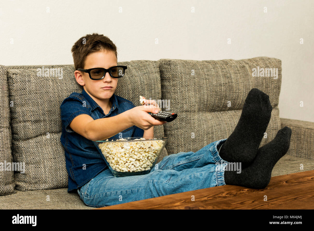 Small Boy On Couch Watching Stock Photos Amp Small Boy On