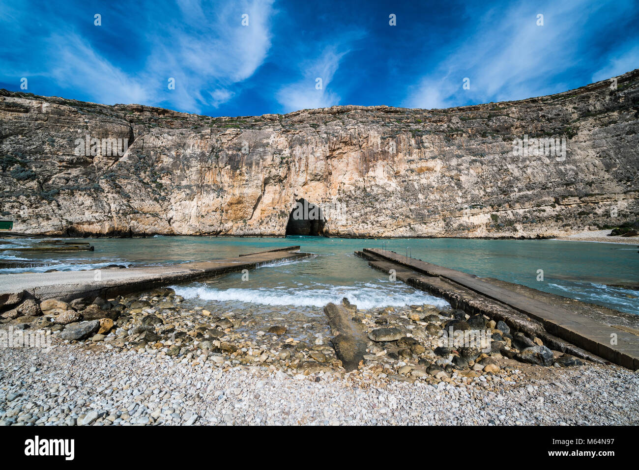 Inland Sea Divesite, Gozo, Malta, Europe. Stock Photo