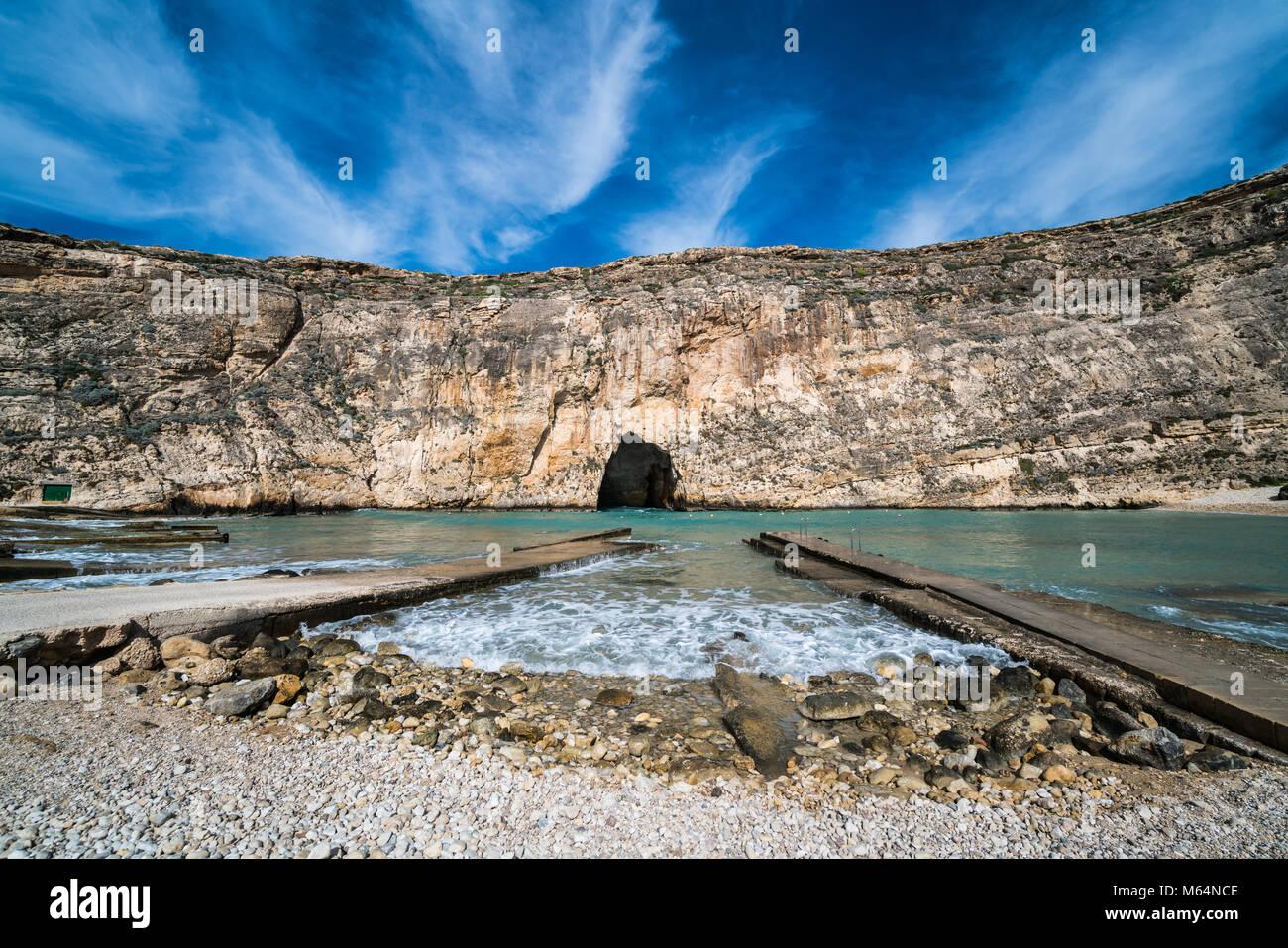 Inland Sea Divesite, Gozo, Malta, Europe. Stock Photo
