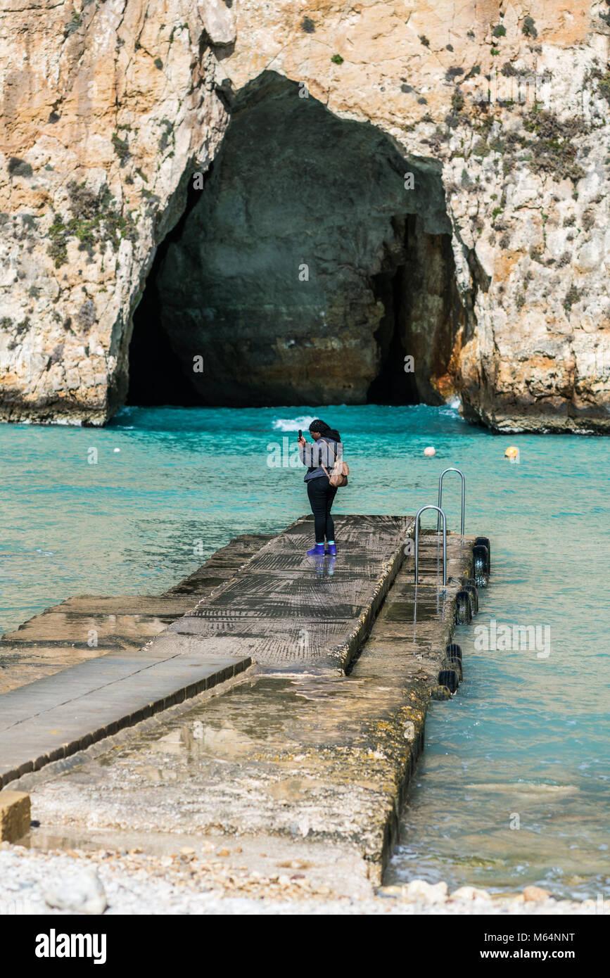 Inland Sea Divesite, Gozo, Malta, Europe. - Stock Image