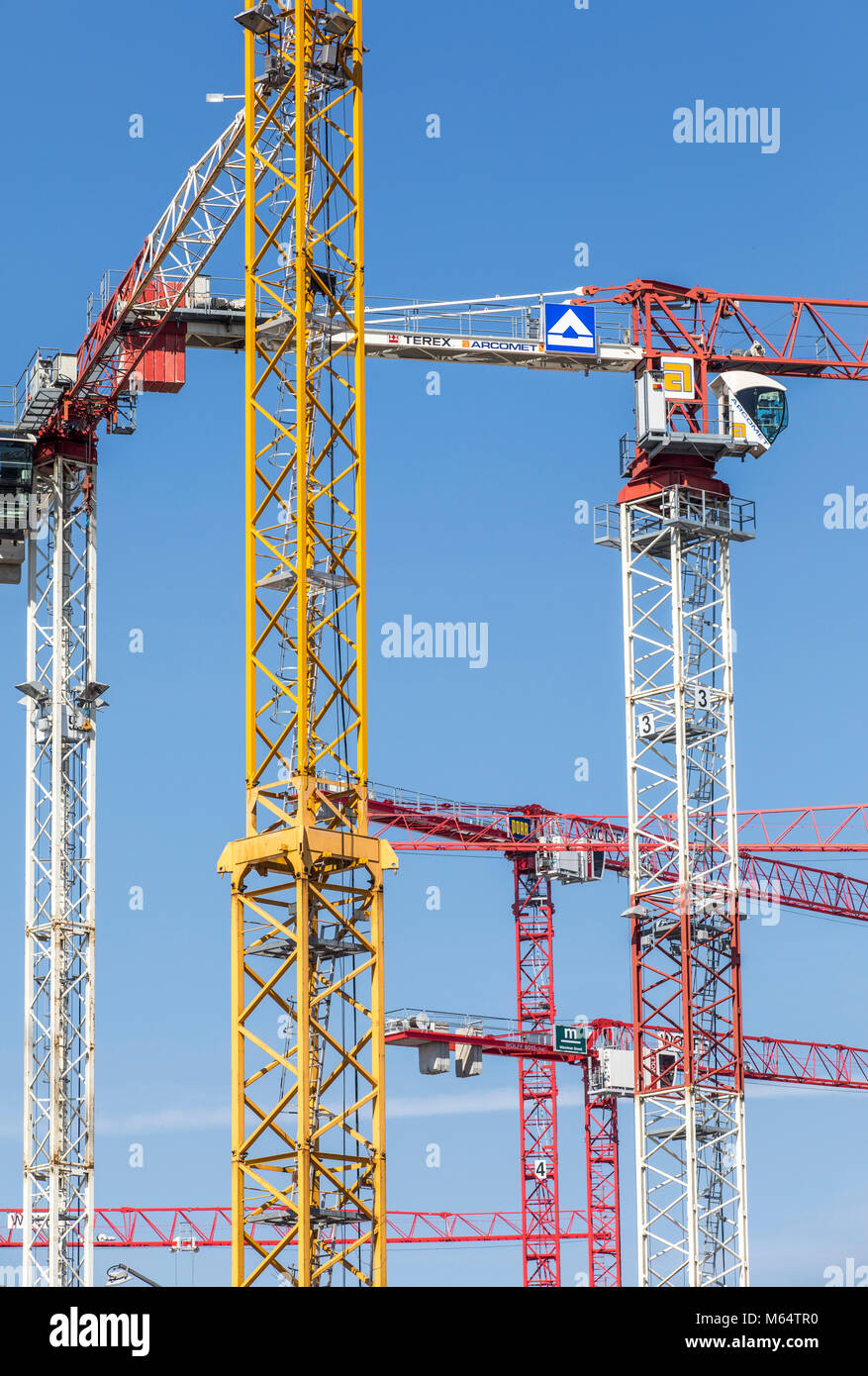 Construction site, construction crane, construction work, Stock Photo