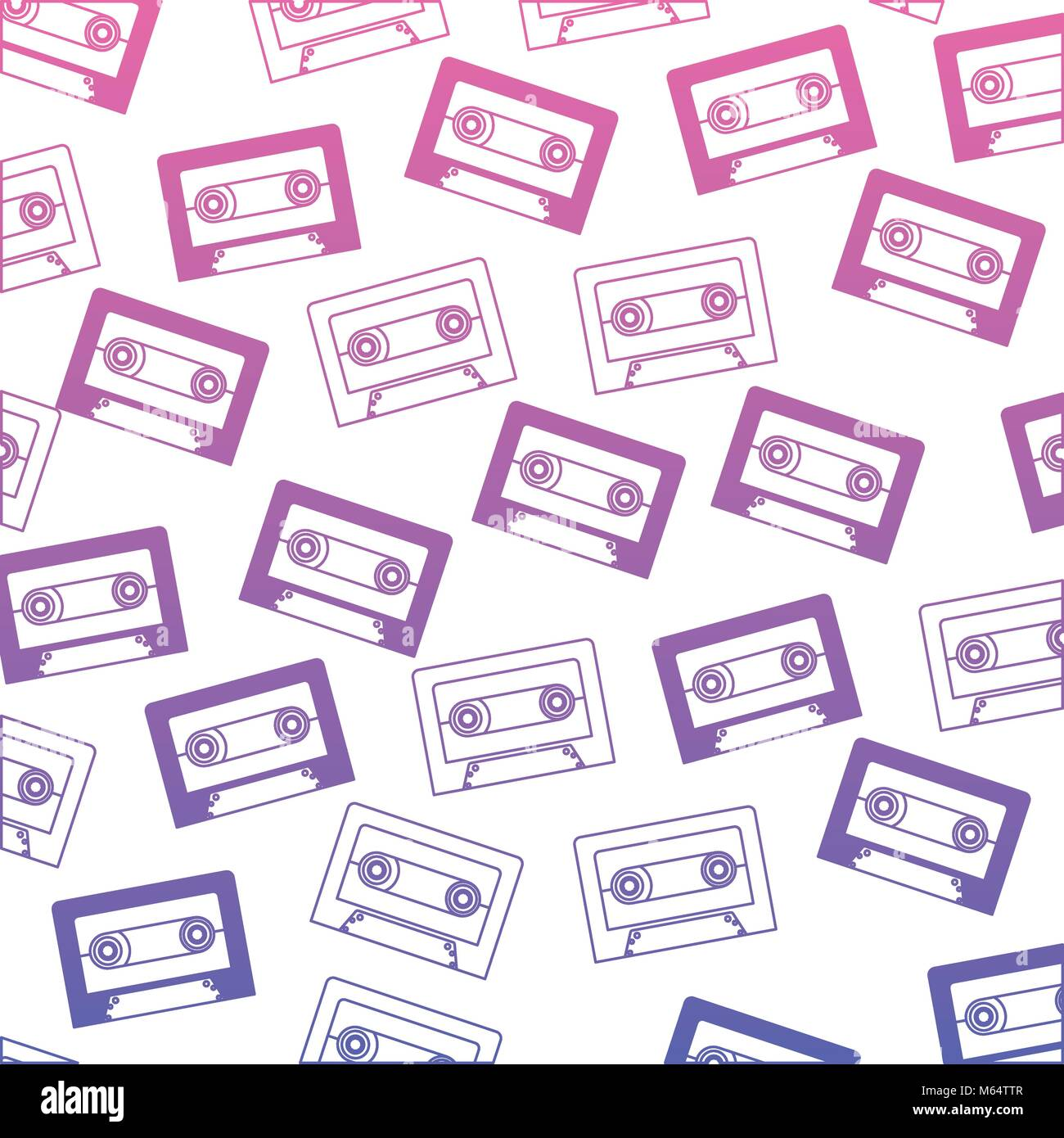 retro cassette pattern background - Stock Image