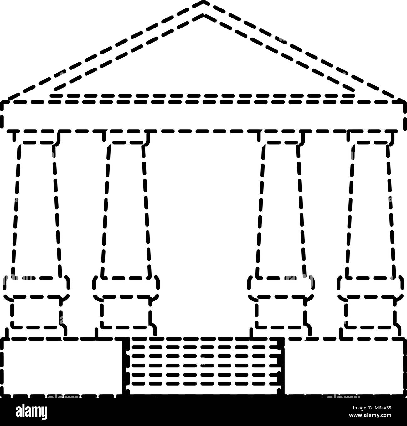 Justice court building icon - Stock Image