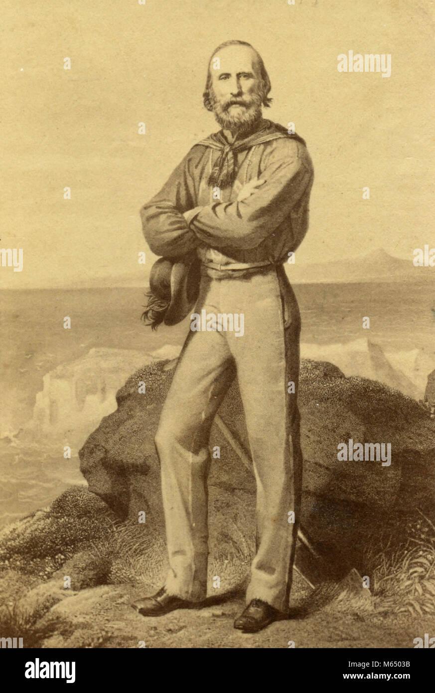 Italian general Giuseppe Garibaldi, 1860s - Stock Image