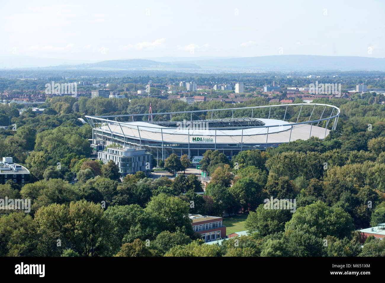 HDI-Arena, football stadium, Hannover, Lower-Saxony, Germany, Europe  I  Fußballstadion HDI-Arena, Hannover, - Stock Image