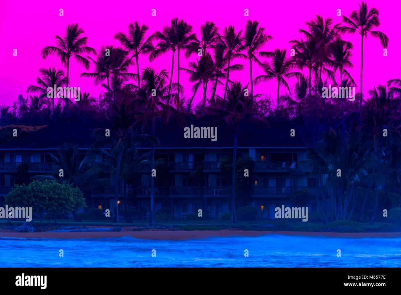 Condominiums on Kauai, Hawaii Stock Photo