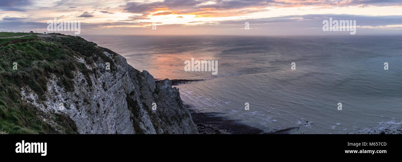 Beachy Head cliffs near Eastbourne - Stock Image