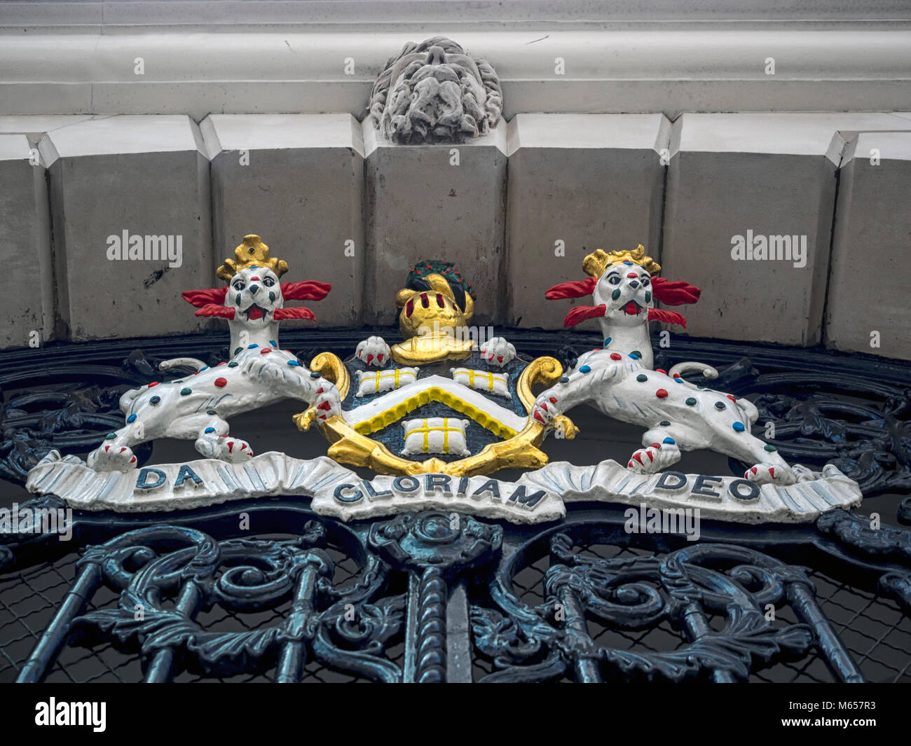 LONDON, UK:  Coat of Arms of the Worshipful Company of Dyers - Stock Image