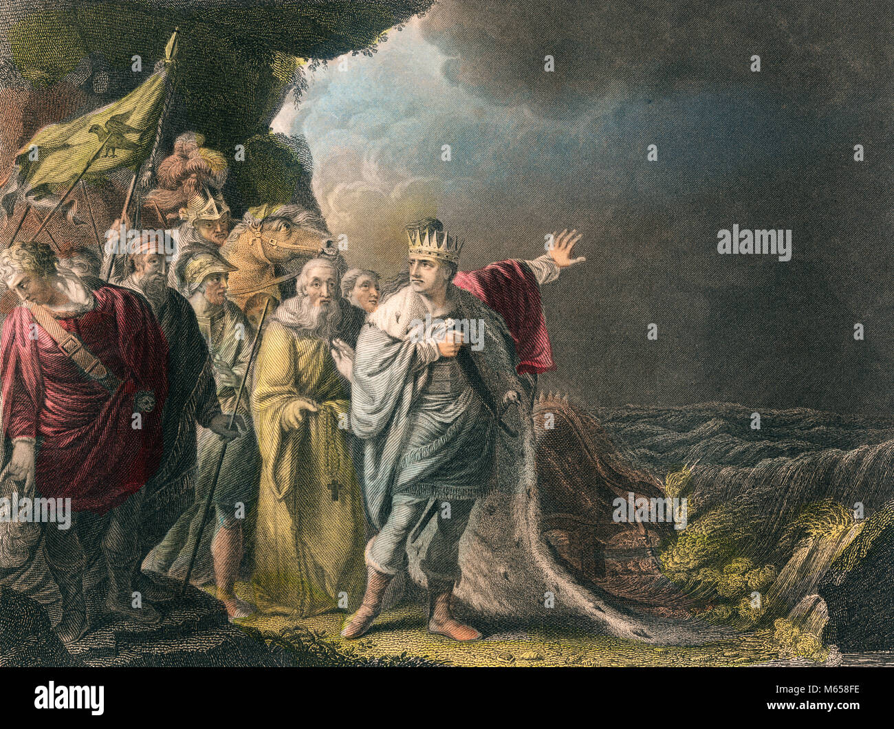 1080s 9th CENTURY CANUTE IV VIKING KING OF DENMARK AND NORWAY REPROVING HIS COURTIERS - ka9197 CPC001 HARS VIKING Stock Photo