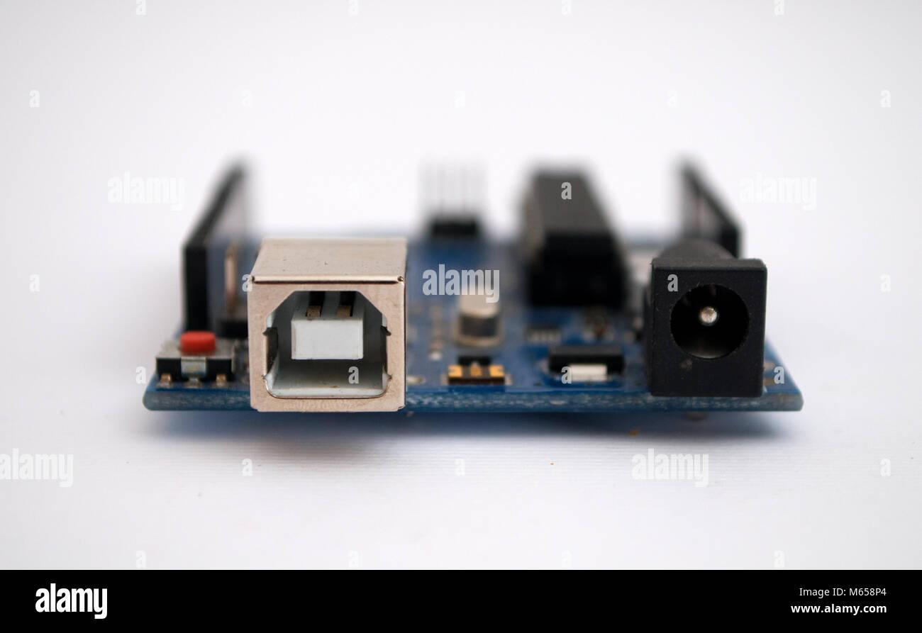 Arduino on a white background - Stock Image