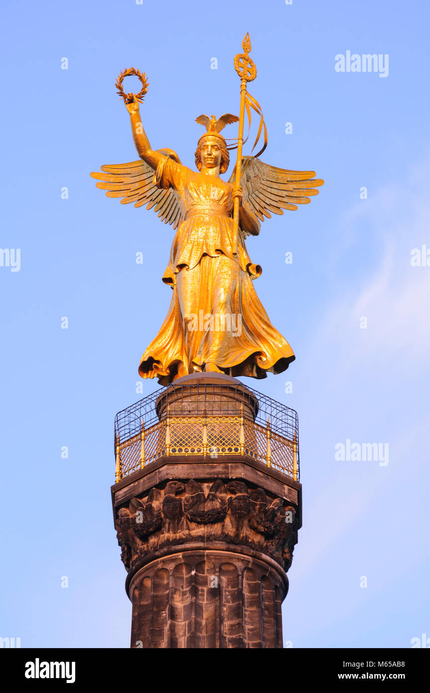 Siegessäule, Berlin, Deutschland, Europa Stock Photo