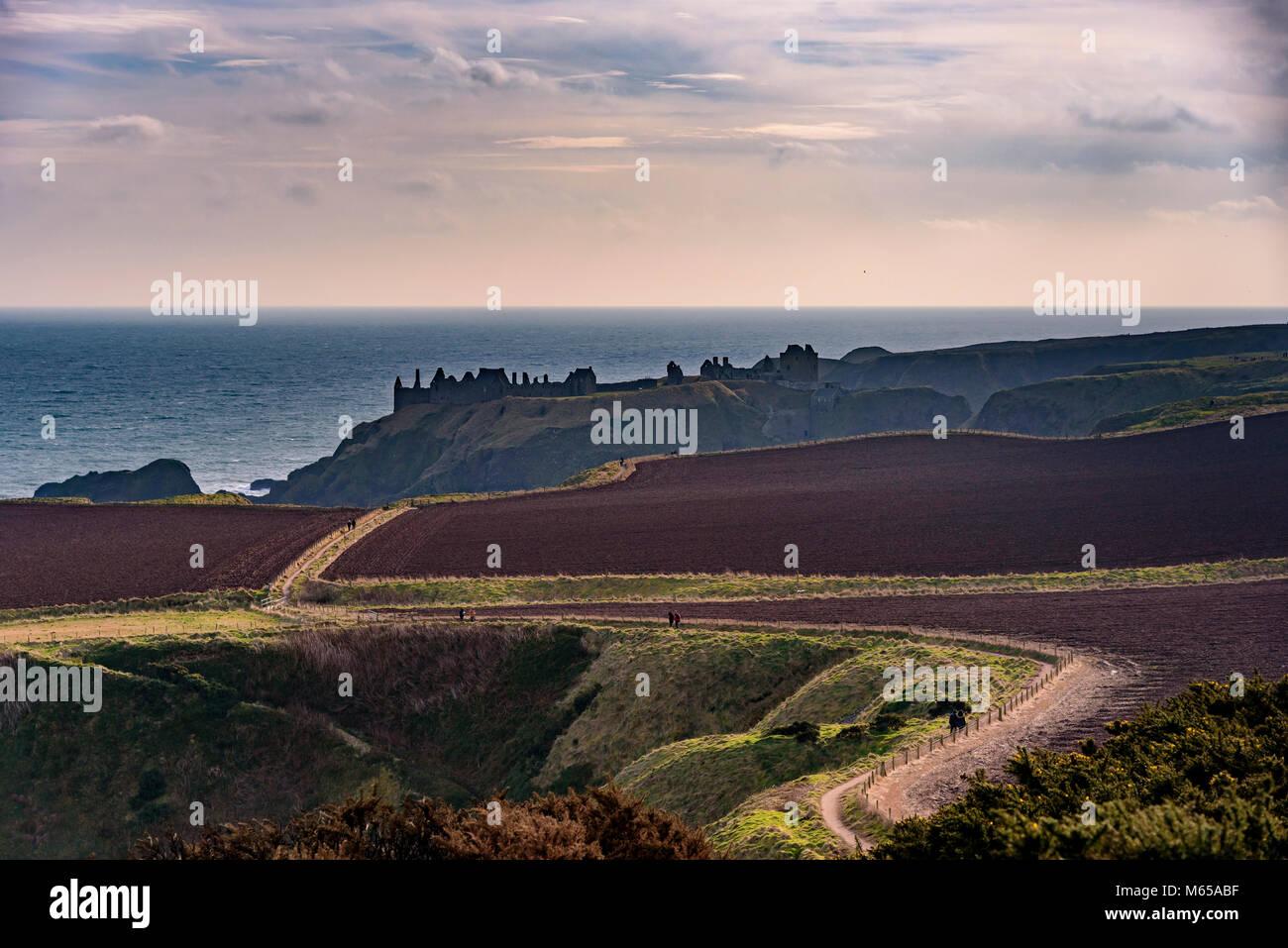 Dunnottar Castle. - Stock Image