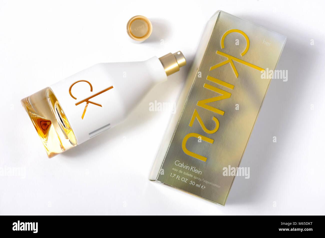 Calvin Klein Perfum Bottle Ck In2u Fragrance Spirit Odour