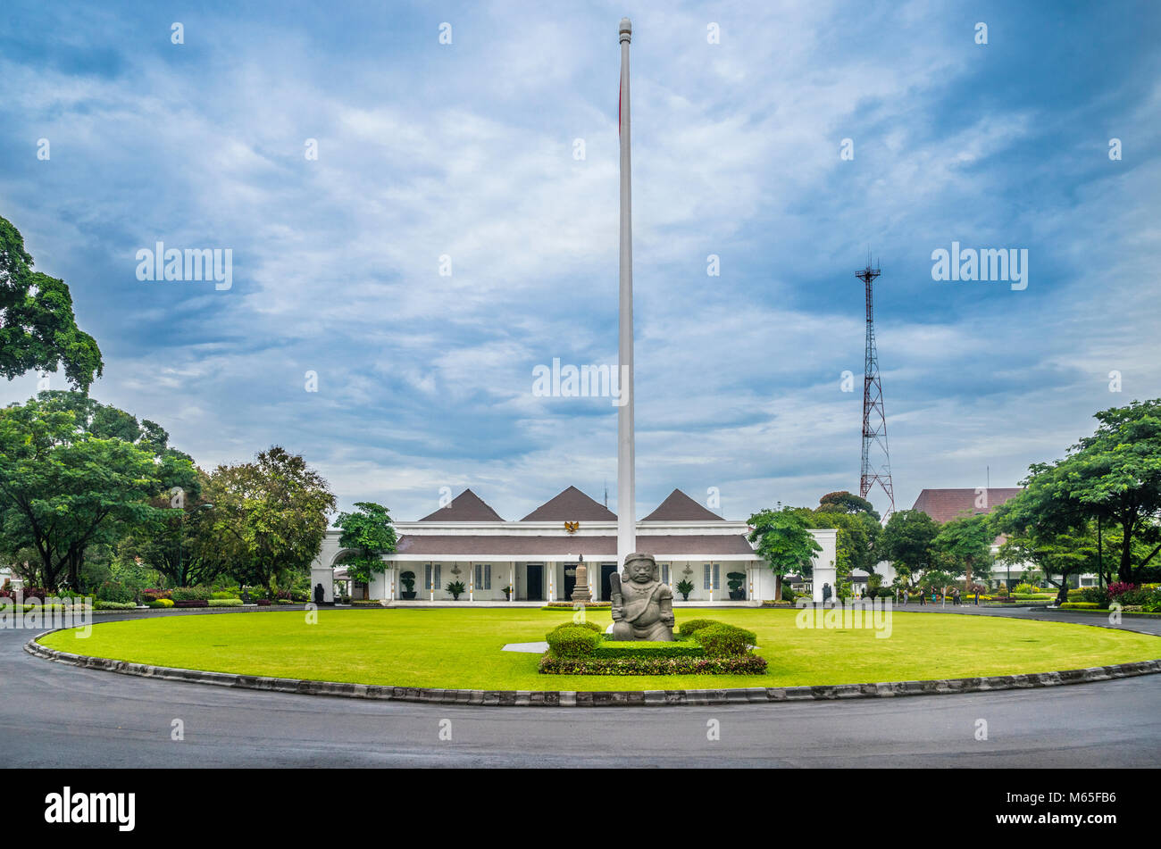 Indonesia, Central Java, Yogyakarta, view of Gedung Agung, originally built as the residence of the Dutch resident, - Stock Image