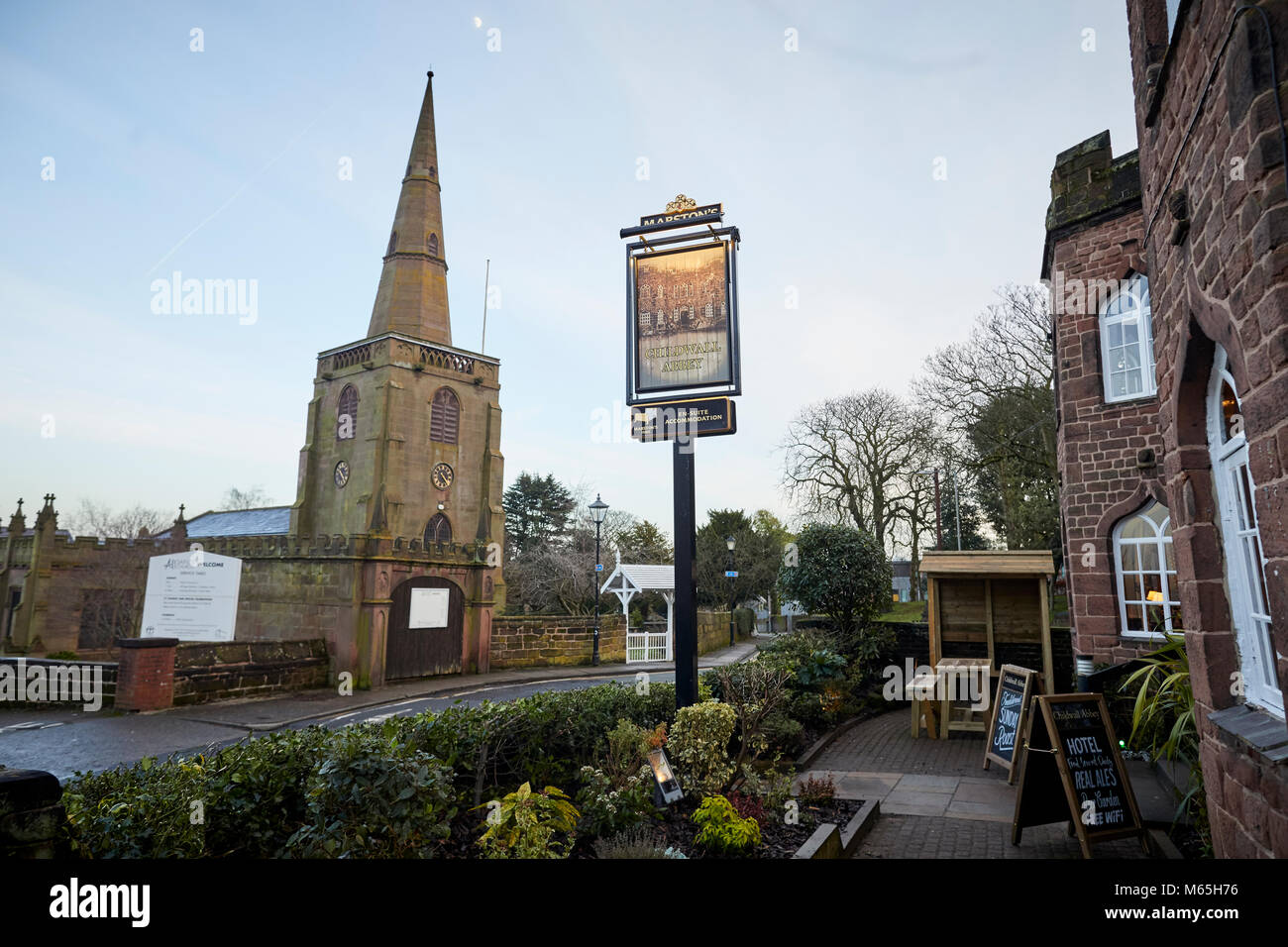 Newley refurbished Marston's Inns Childwall Abbey Hotel and Pub in Liverpool. - Stock Image