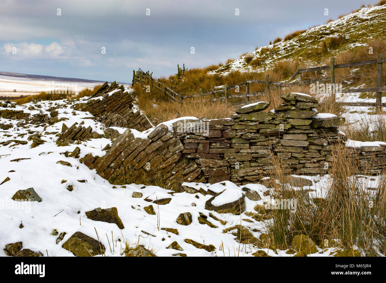 Darwen Moor and surroundings. Part of the West Pennine Moors a Site of Special Scientific Interest. Stock Photo