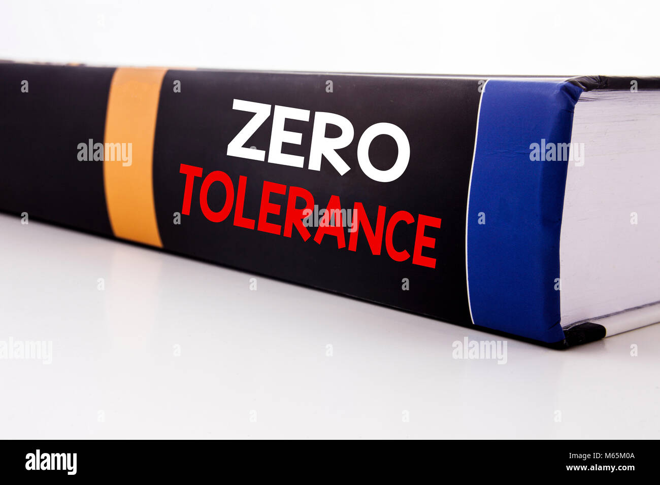 Conceptual hand writing text caption inspiration showing Zero Tolerance. Business concept for Policy For Punishment - Stock Photo