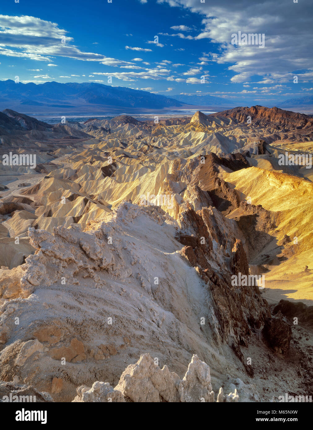 Golden Canyon, Manly Beacon, Death Valley National Park, California - Stock Image