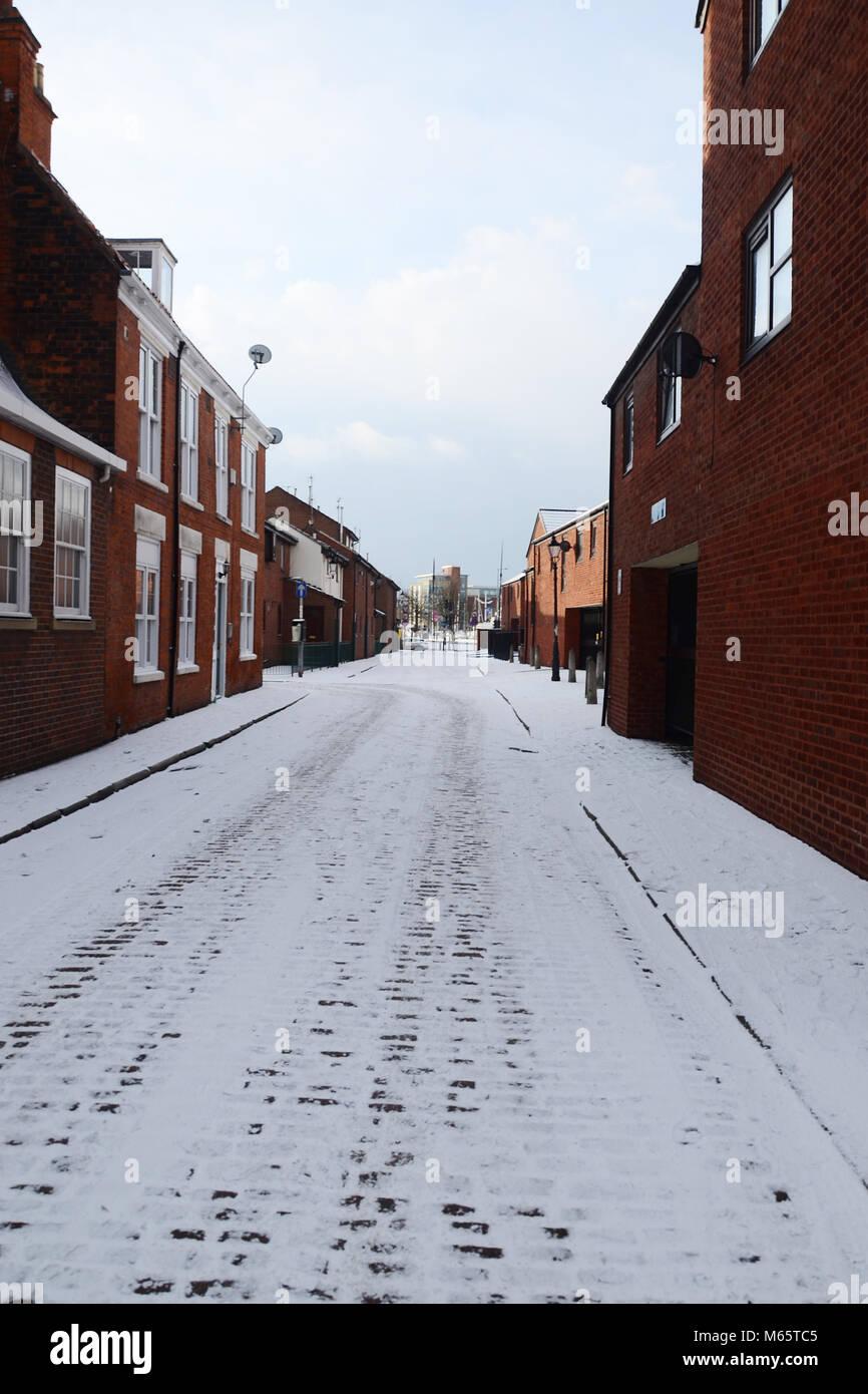 Dagger Lane,prince street, old town, kingston upon Hull, Hull, UK - Stock Image
