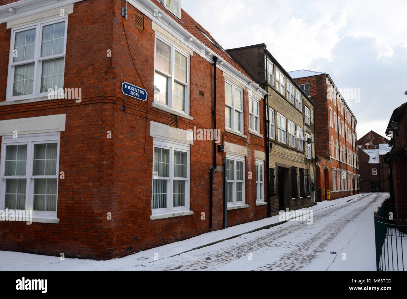 Robinson Row, Dagger Lane, old town, kingston upon Hull, Hull, UK - Stock Image