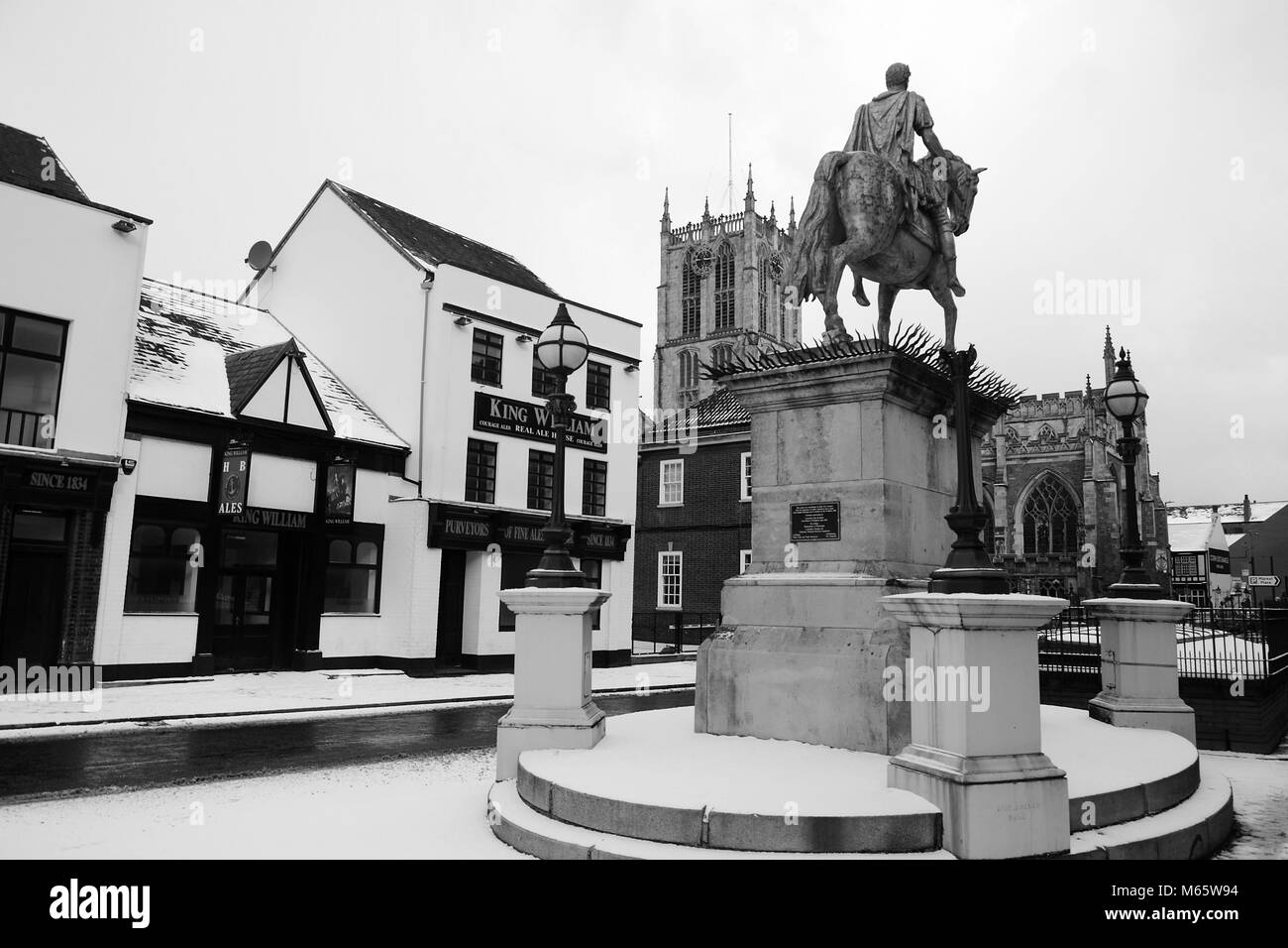 King billy statue, Market Place, Kingston Upon Hull - Stock Image