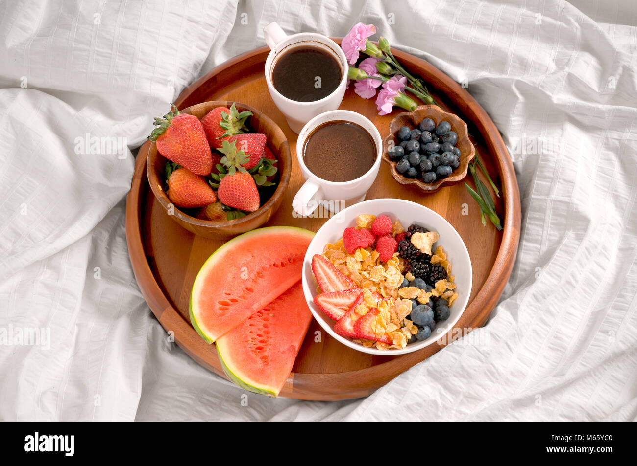 Morning And Healthy Breakfast Breakfast In Bed Stock Photo Alamy