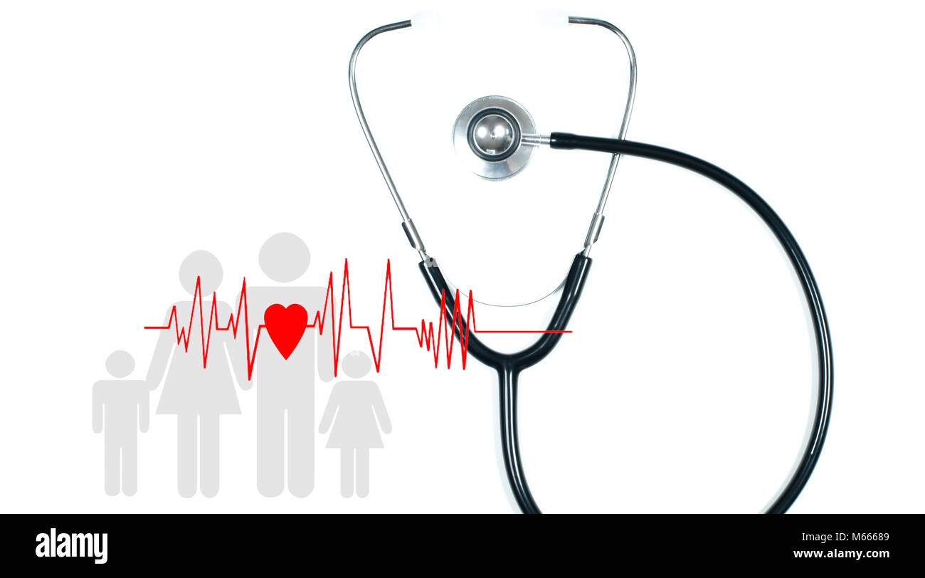 Health Cut Out Stock Images Pictures Alamy Remote Stethoscope Concept Diagram Medical And Red Heart With Cardiogram On White Background Insurance Concepts