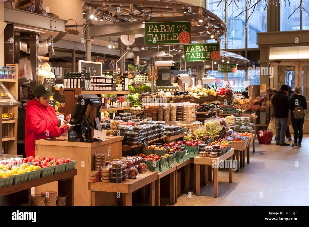 Eli Zabar's Market at Grand Central Market within the Grand Central Terminal, New York City, NY, USA. Stock Photo