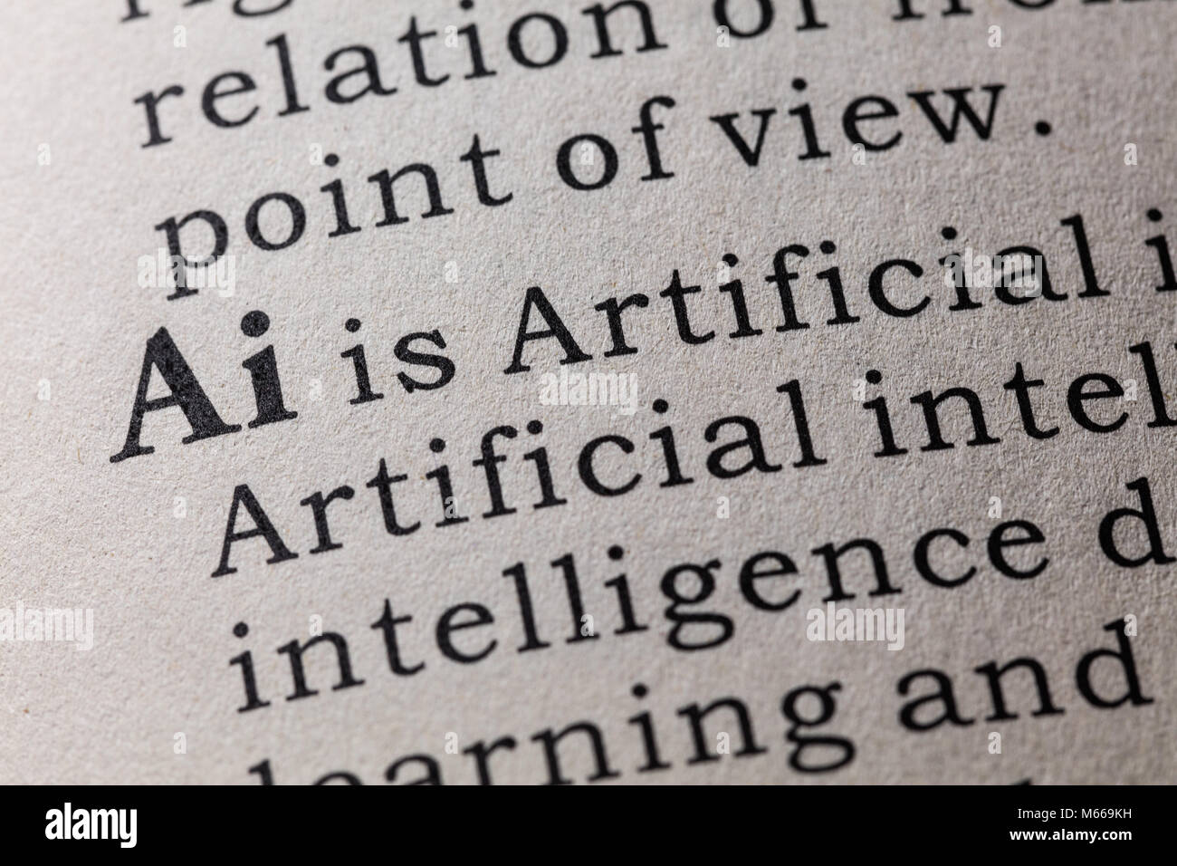 Fake Dictionary, Dictionary definition of the word Ai