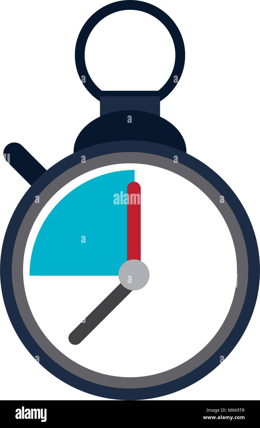 Vintage chronometer symbol - Stock Image