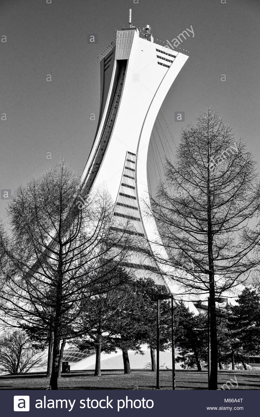 Olympic Tower Montreal - Stock Image