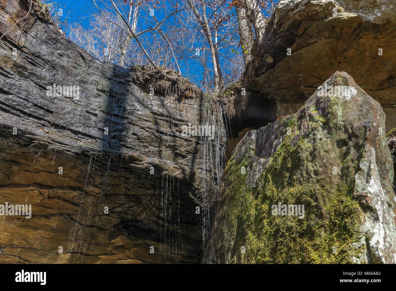An appalachian mountain waterfall. - Stock Image