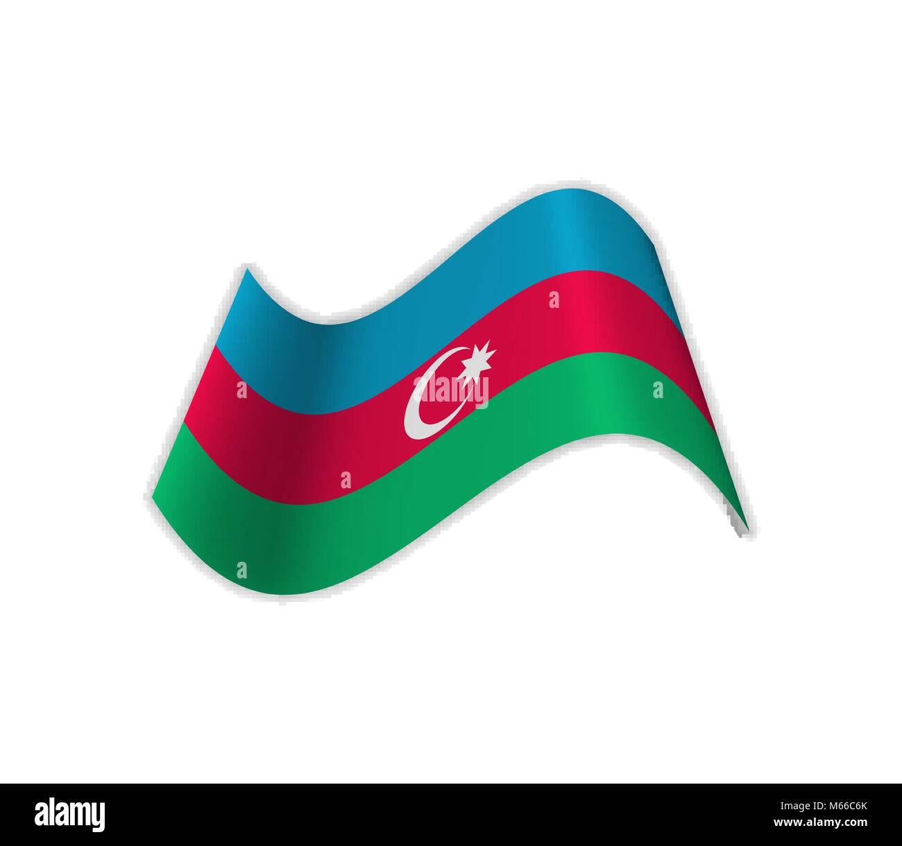 The Flag Of Azerbaijan. - Stock Vector