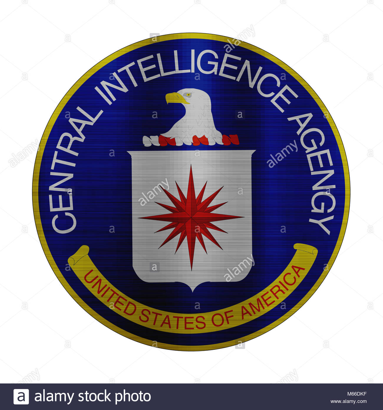 cia central inteligence agency illustration america - Stock Image