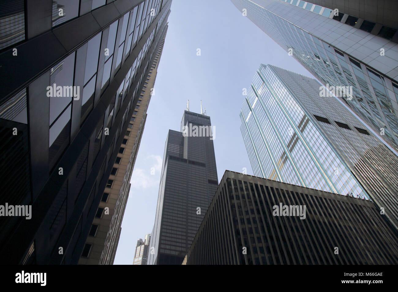the willis tower chicago Illinois - Stock Image