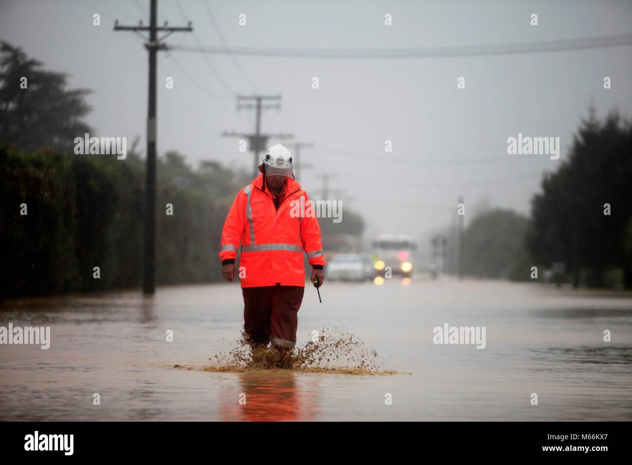 Picture by Tim Cuff 20 February 2018 - Cyclone Gita hits Riwaka hard, Nelson Tasman district, New Zealand - Stock Image