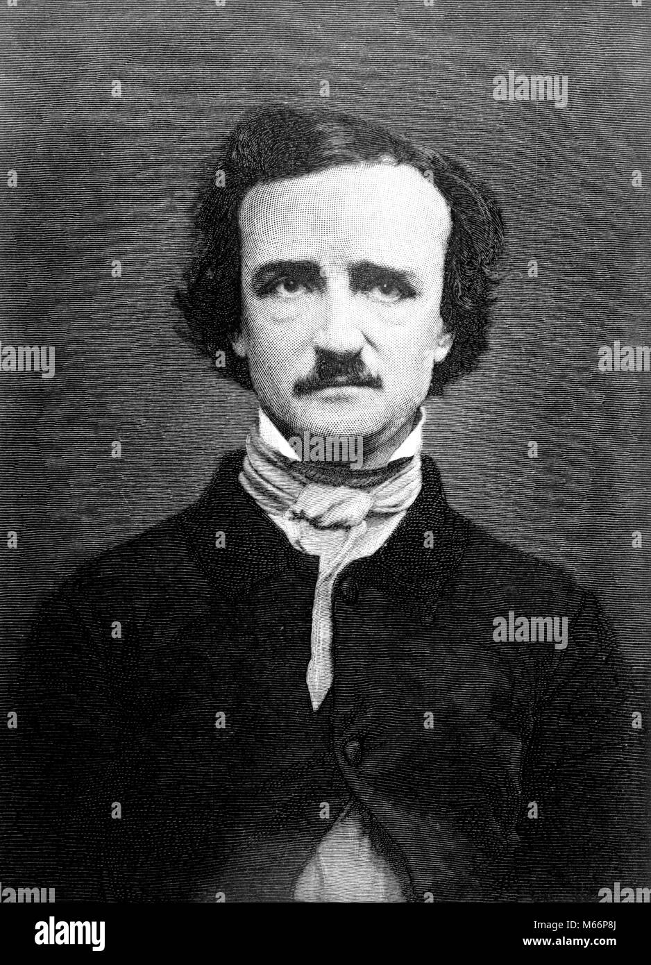 1840s PORTRAIT EDGAR ALLAN POE 1809-1849 MACABRE GOTHIC POET WRITER AUTHOR CRITIC - q61388 CPC001 HARS MID-ADULT - Stock Image