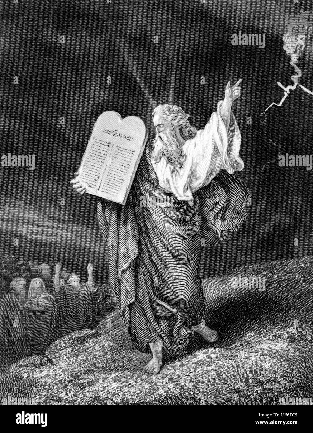Moses 10 Gebote Berg