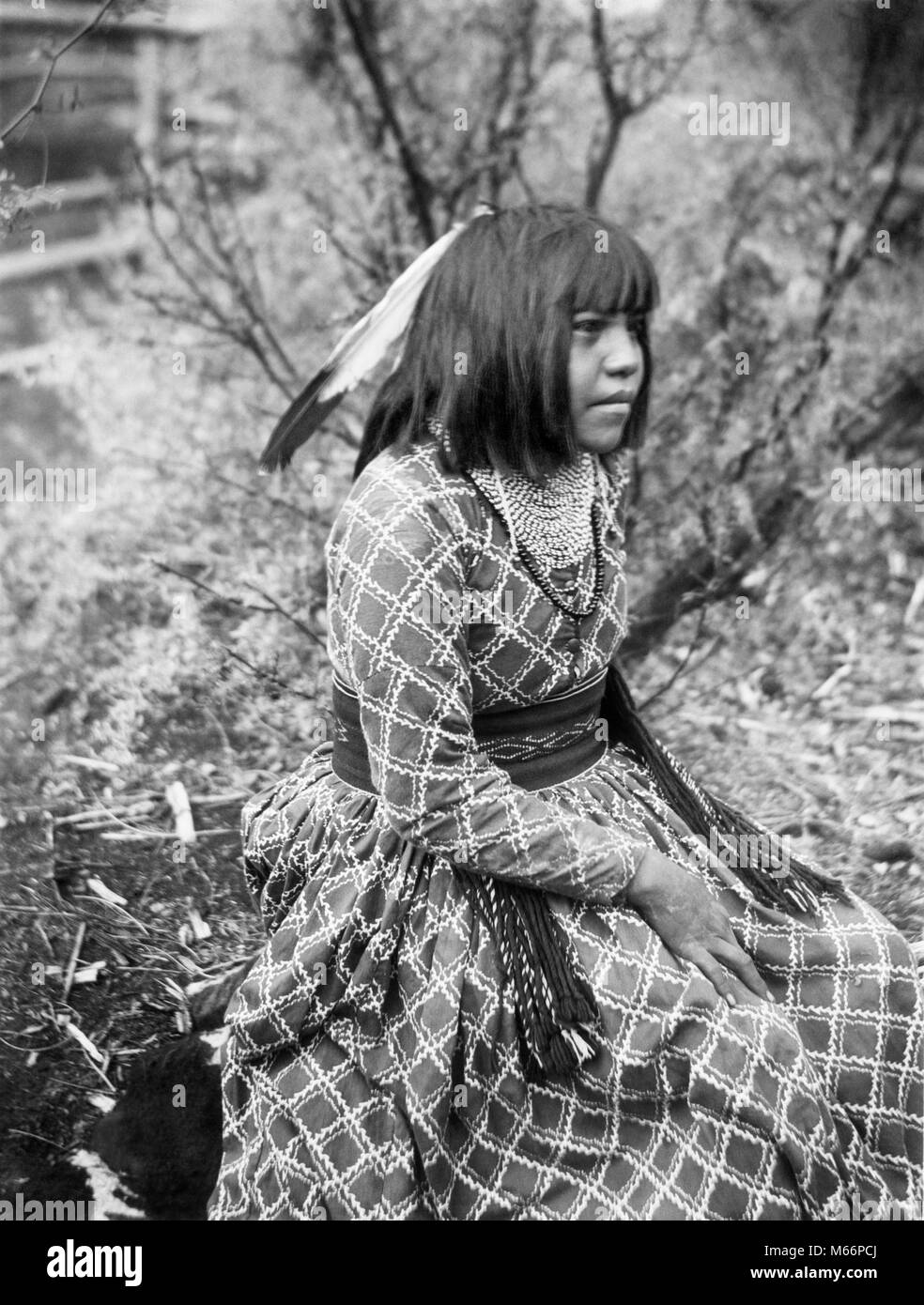 1890s 1899 PORTRAIT NATIVE AMERICAN HAVASUPAI INDIAN WOMAN BY G. WHARTON JAMES - q73436 CPC001 HARS ONE PERSON ONLY - Stock Image