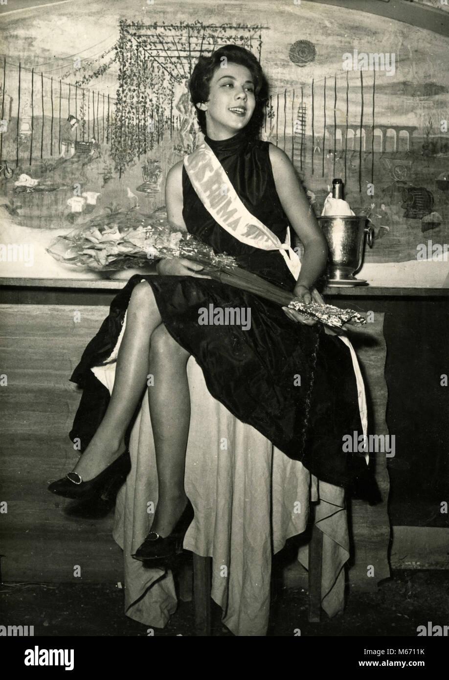 Grazia Simoni, Miss Roma 1954, Italy - Stock Image
